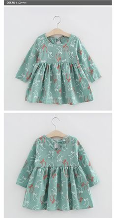Cute Floral Printed Baby Girls Dresses Spring Autumn Long Sleeve Bow Princess Dress Casual Costume Kids Clothes Tutu Vestidos - Kid Shop Global - Kids & Baby Shop Online - baby & kids clothing, toys for baby & kid - Kids Ideas Baby Dress Design, Frock Design, Little Girl Dresses, Girls Dresses, Tutu Dresses, Floral Dresses, Spring Dresses Casual, Dress Casual, Casual Clothes