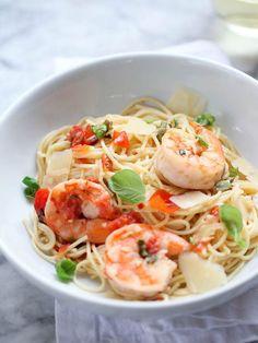 Shrimp Scampi Pasta   foodiecrush.com
