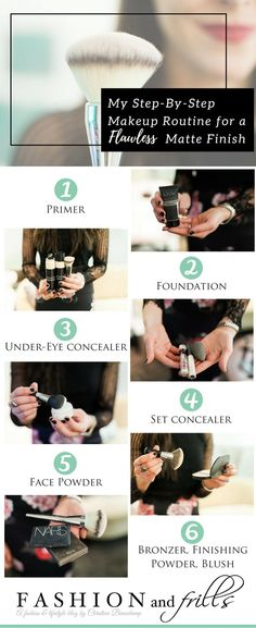 Step by Step Makeup Routine for a Matte Finish // Best Foundation for oily combination skin // brightening setting powder // http://fashionandfrills.com/my-step-by-step-makeup-routine-for-a-flawless-matte-finish/