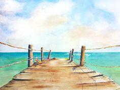 Top of Old Playa Paraiso Pier 2 by Carlin Blahnik