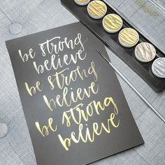 Be strong believe. Playing with the wonderful finetec gold palette. #inkcitra #finetec