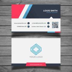 Современный красочный шаблон визитной карточки Бесплатные векторы
