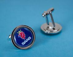 Lovely Set of Saab Cufflinks by WeeHings on Etsy