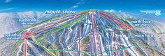Mount Snow, VT.  1700 verticle feet.  75 minutes away. For a real East Coast Ski experience.