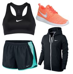 """Workout outfit"" by bkpovey on Polyvore featuring NIKE, women's clothing, women's fashion, women, female, woman, misses and juniors"
