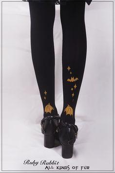 ~Cat and Bunny's Happy Halloween~ Lolita Tights - My Lolita Dress