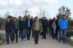 Visitando las distintas zonas de la planta con Juan José Salas, director de I+D+i del Centa