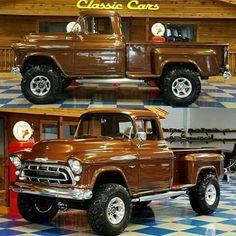 57 Chevy Trucks, Custom Pickup Trucks, Classic Pickup Trucks, Old Pickup Trucks, Gm Trucks, Chevy Pickups, Cool Trucks, Cool Cars, Chevy C10
