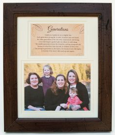 Generations Family Picture Frame - The Grandparent Gift Co.