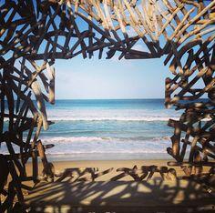 INSTAGRAM 18 Aug. Vanessa van Vreden Photography. View from the the Beach Mansion. Site_Specific #LandArtBiennale in #Plett. #LandArt