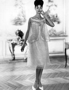 Christian Dior P/E 1960. Mannequin Carla Marlier.
