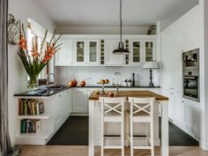 Fehér konyha - konyha / étkező ötlet