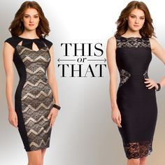 Camille La Vie Short Black Dresses made of Lace. The must have LBD look