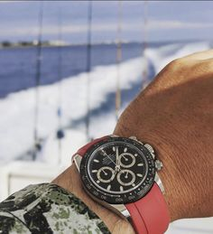 Not a bad way to spend #strapsaturday 🛥 🎣  . Photo credit @mikeshaw_watches 📸 Rolex Daytona, Breitling, Photo Credit, Watches, Accessories, Clocks, Clock