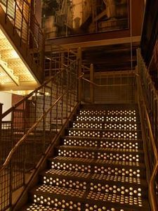 Soho Grand Hotel; best staircase and Chardonnay.  This is a great spot for shopping, dining, and easy access for the kids from Brooklyn to lower Manhattan.  Great walking area.  Safe. Beautiful
