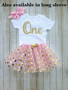 Pink and gold first birthday outfit Pink and gold tutu One year old outfit Mint and gold 1st birthday outfit Baby girl first birthday outfit by SweetPeaCharlies on Etsy