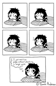 When i am really tired and try to study  :3