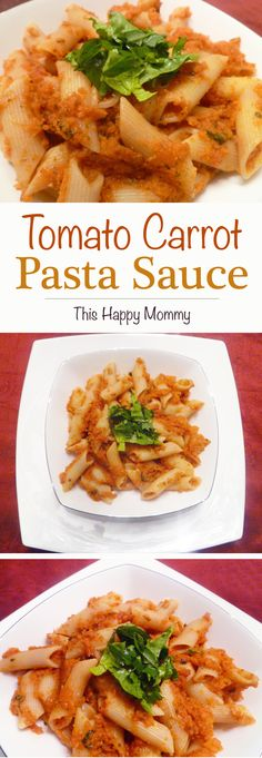 Tomato Carrot Pasta Sauce is a fresh, fabulous veggie packed pasta sauce that's ready in under 30 minutes. #lowfat | thishappymommy.com