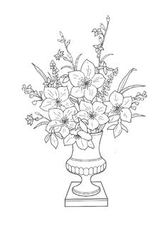 Coloring Page Bouquets Kids N Fun