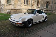 1987 Porsche 911 930 Turbo 3.3 Coupe LHD in Special Order Pearl White.