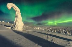 Aurora Borealis - Looks like another planet. Photographed in Finland by Marko Airismeri