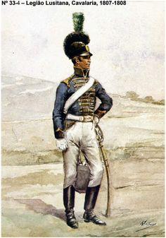 LEGIÃO LUSITANA (MARQUES DE ALORNA Cavalerie 1807-1808 Portuguese Empire, Military Insignia, Napoleonic Wars, Modern Warfare, American Civil War, Army, Seventeen, Spanish, Pictures