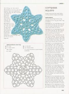 Crochet flowers with diagram  #25