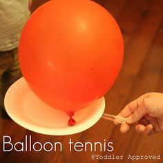Active Indoors- Balloon Tennis, this may be a good grief group idea of how we… Winter Activities For Toddlers, Indoor Activities For Kids, Craft Activities, Toddler Activities, Crafts For Kids, Elderly Activities, Fitness Activities, Indoor Games, Outdoor Activities
