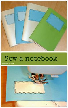 DIY a notebook Do you like colors? And paper? And sewing? What about sewing a notebook tailored exactly to your taste? Oh, you'll love this one.