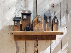 Wooden Art, Wooden Crafts, Driftwood Wall Art, Timber House, Wood Interiors, Large Photos, Coat Hanger, Little Houses, Floating Shelves