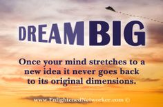 Dare to Dream! --- Have you given up on your dream or are confused on what you really want out of life? This blog post and amazing video may help get you started on dreaming again. #blogs #dream_big #personal_development #enlightenednetworker