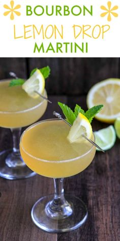 Ditch the gin in favor of this Bourbon Lemon Drop Martini! This easy fruity cocktail is sweet, sour and oh so delicious! Need an easy cocktail recipe for a crowd? Look no further than this Lemon Drop Martini recipe! Cocktail Recipes For A Crowd, Martini Recipes, Food For A Crowd, Cocktail Ideas, Drink Recipes, Lemon Drop Martini, Easy Fruity Cocktails, Summer Drinks, Fresco