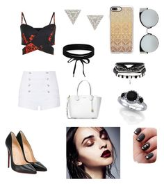 """Outfit6"" by foodmakesmehappyrandomness on Polyvore featuring Pierre Balmain, Christian Louboutin, Michael Kors, Fendi, Casetify, Boohoo and Lizzie Mandler"