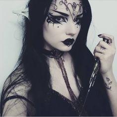 Happy Samhain  . . List of makeup products on previous post . . #halloweenmakeup #halloween #makeup #darkelf #elf #elven #elves #eyemakeup #eyeliner #crown #blacklipstick #blacklips #katvondbeauty #kvd #lipstick #witch #witches #witchery #tattoogirl #tattoo #goth #gothgirl #gothicgirl #gothic #alternativegirl #altgirl #motd #darkmakeup #smokyeyes #piercing