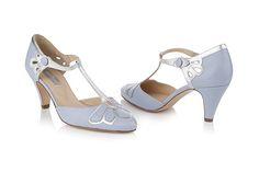 Aw, shoot. Between Rachel Simpson and Chie Mihara... so much shoe goodness. T-Bar Wedding Shoe | Gardenia Powder Blue | Rachel Simpson Shoes