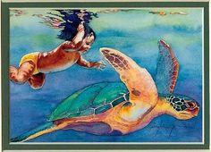 Hawaiian Sea Turtle Art | ... photobucket.com/albums/cc82/Dalana_Notafji/Gifs/Art/hawaiian-art4.jpg