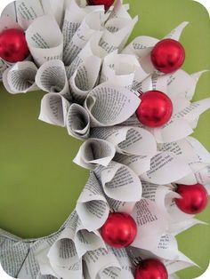 Book wreath.