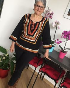 Job show 😍 Read the description ⤵. By Fatimetülzehra. Thread Crochet, Crochet Top, Crochet Sunflower, Crochet Decoration, Crochet Woman, Afghan Crochet Patterns, Knitted Poncho, Crochet Cardigan, Beautiful Crochet