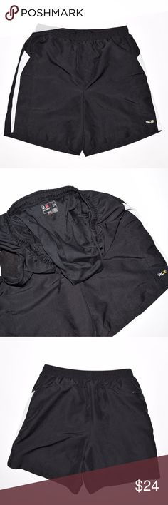 Ralph Lauren RLX Athletic Lined Running Shorts Brand: RLX Ralph Lauren  Item name: Athletic Polyester Lined Running Shorts w/ Pockets   Color: Black  Condition: This is a pre-owned item. They are in excellent condition with no stains, rips, holes, etc. Product comes from smoke free environment.  Size: Medium  Measurements Laying Flat:   Waist - 14-19 inches (elastic)  Rise - 13 inches  Inseam - 7 inches  Length - 17 inches RLX Ralph Lauren Shorts Athletic
