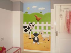 Farm mural in childs bedroom. www.custommurals.co.uk