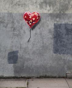 il nuovo palloncino di Banksy a NY