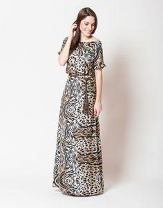 Vestido Longo Estampa Prisma