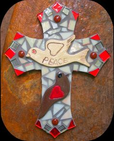 Mosaic cross by PrayingMantis MosaicMagik