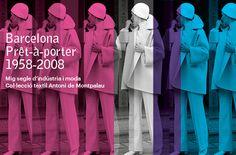 """Barcelona Prêt-à-Porter Exposición. Es la primera vez que la moda catalana hace una mirada retrospectiva a 50 años de historia de la moda """"prêt-à-porter"""", teniendo Barcelona como punto de referencia internacional. En los AÑOS 50 EMPIEZA TÍMIDAMENTE A CREARSE UNA INDUSTRIA DE ROPA PRÊT-À-PORTER. En los 60 Y 70 es cuando se extiende esta industria, que se dirige, sobre todo, a la Gente Joven y que fabrica Vaqueros, Vestidos y Ropa Desenfadada. El Prêt-à-Porter significa """"listo para llevar""""…"""