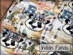 """Mit unserem """"Indian Panda"""" kann man sich auf jedem Festival blicken lassen! #stickandstyle"""