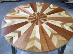 She Makes Quilt Inspired Tables Out Of Salvaged Wood