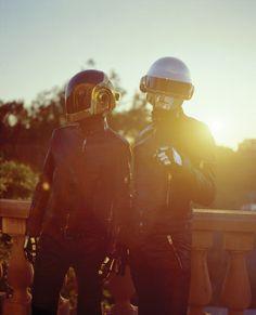 One of my favorite photos of them<3<3<3 Daft Punk, Guy Manuel de Homem-Christo, Thomas Bangalter