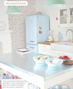 This coordinated scheme works wonders in country kitchens.