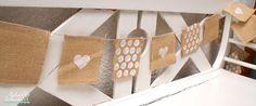 liebste schwester: So werkelst du eine schöne vintage Wimpelkette! mit Farben von Marabu und Stanzen und Schablone von Stampin`UP!