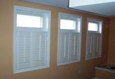 Put shutters below basement windows to make them appear bigger.